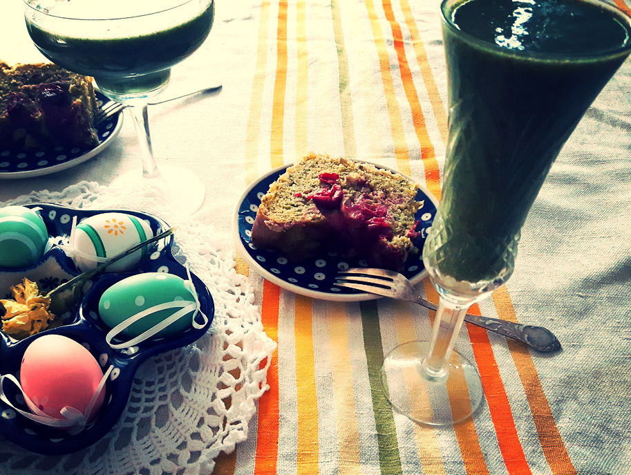 Dlatego dziś będzie zielona wersja ciasta drożdżowego.