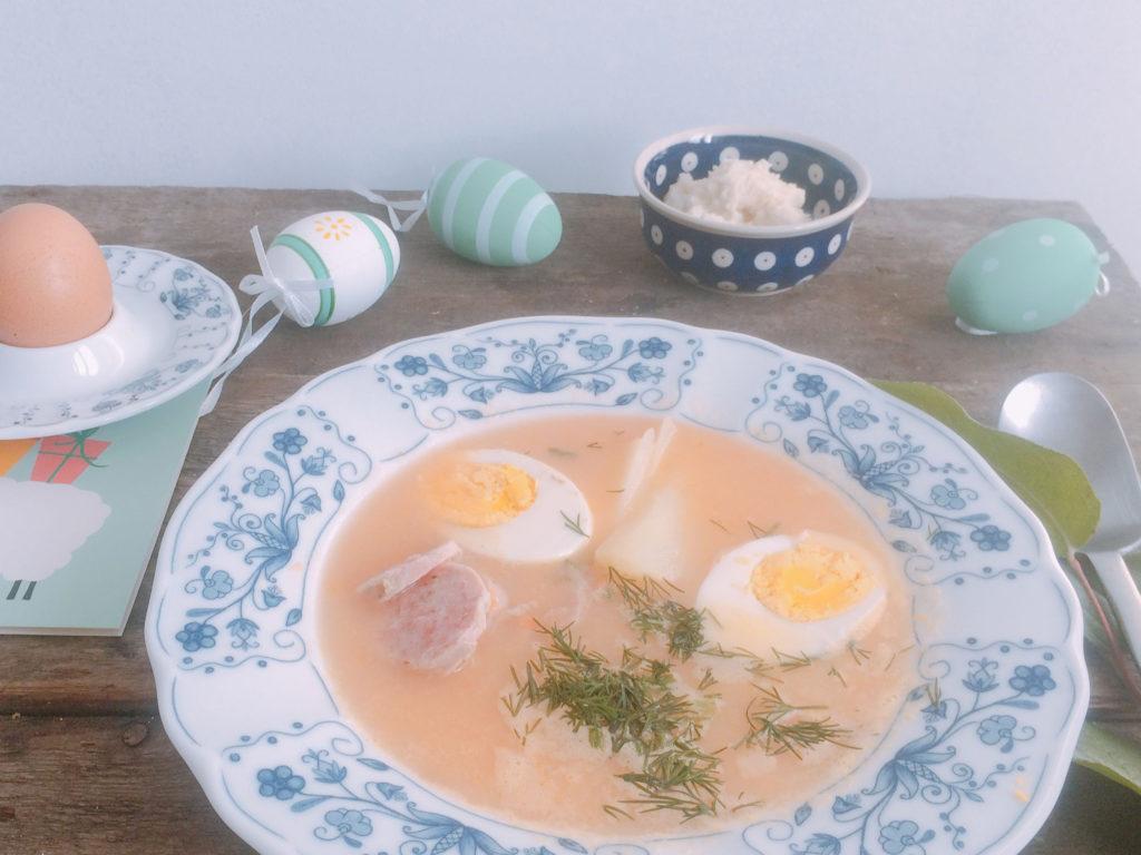 Żurek chrzanowy na Wielkanoc - zupa chrzanowa na zakwasie