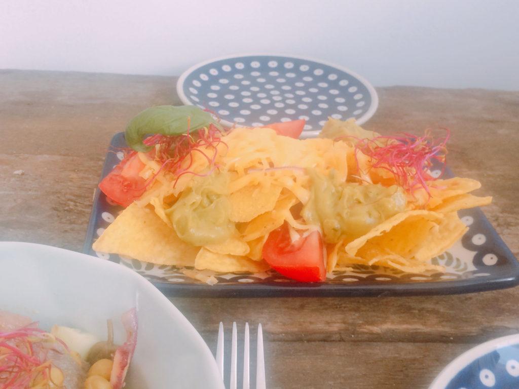 Nachosy z guacamole